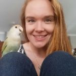 Hayley and her Lovebird, Sven